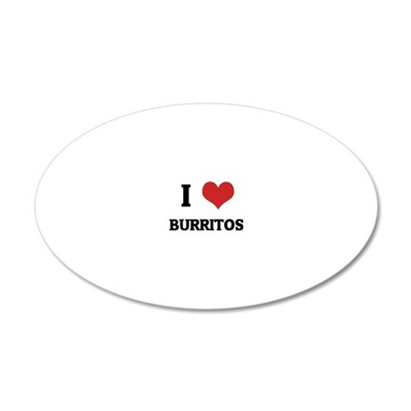 BURRITOS 20x12 Oval Wall Decal