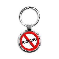 JOGGING111 Round Keychain
