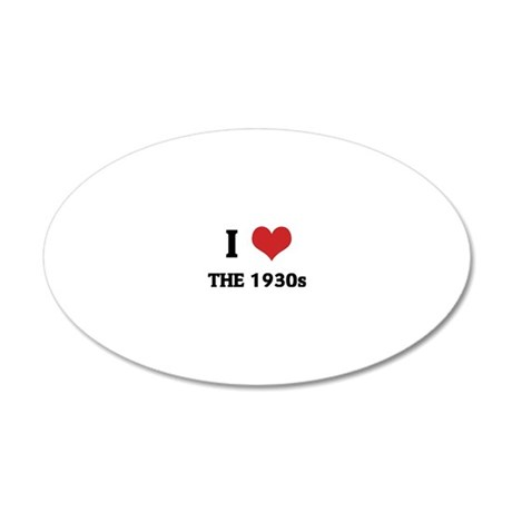 THE 1930S 20x12 Oval Wall Decal