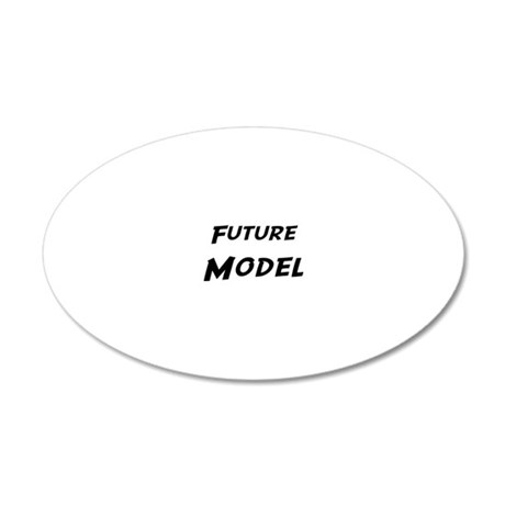 Model 20x12 Oval Wall Decal