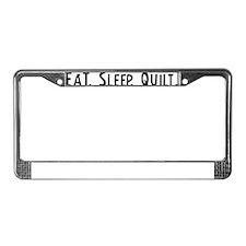 Quilt. License Plate Frame