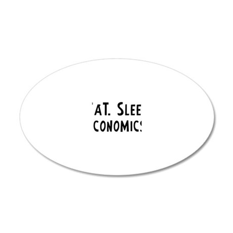 Economics. 20x12 Oval Wall Decal