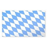 Bavaria Flag Rectangle Decal