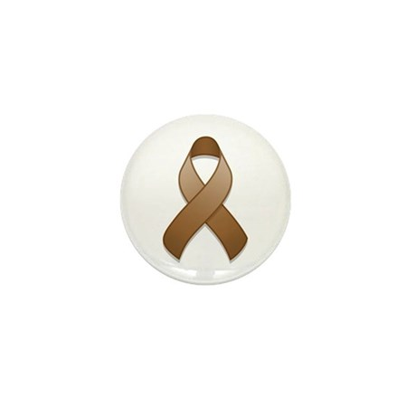 Brown Awareness Ribbon Mini Button