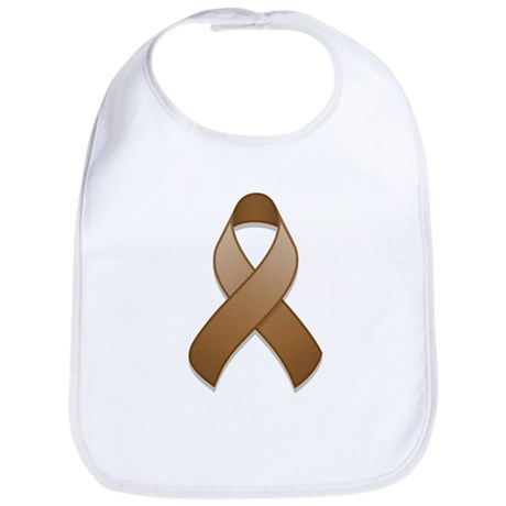 Brown Awareness Ribbon Bib
