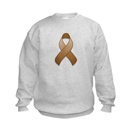 Brown Awareness Ribbon Kids Sweatshirt