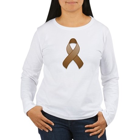 Brown Awareness Ribbon Women's Long Sleeve T-Shirt