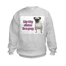 Big Sister Pug Sweatshirt