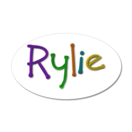 Rylie Play Clay 35x21 Oval Wall Decal