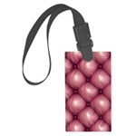 Lounge Leather - Pink Luggage Tag