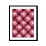 Lounge Leather - Pink Framed Panel Print
