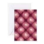 Lounge Leather - Pink Greeting Cards (Pk of 20)