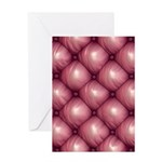 Lounge Leather - Pink Greeting Card