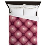 Lounge Leather - Pink Queen Duvet