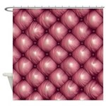 Lounge Leather - Pink Shower Curtain