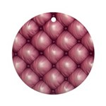 Lounge Leather - Pink Ornament (Round)
