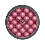 Lounge Leather - Pink Wall Clock