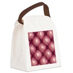 Lounge Leather - Pink Canvas Lunch Bag