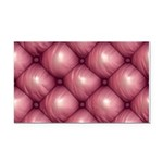 Lounge Leather - Pink Rectangle Car Magnet