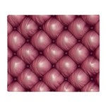 Lounge Leather - Pink Throw Blanket