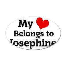 Josephine 35x21 Oval Wall Decal