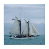 Key West Schooner Tile Coaster