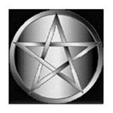 Tile Coaster Silver Pentagram
