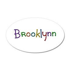 Brooklynn Play Clay 20x12 Oval Wall Decal