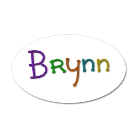 Brynn Play Clay 20x12 Oval Wall Decal