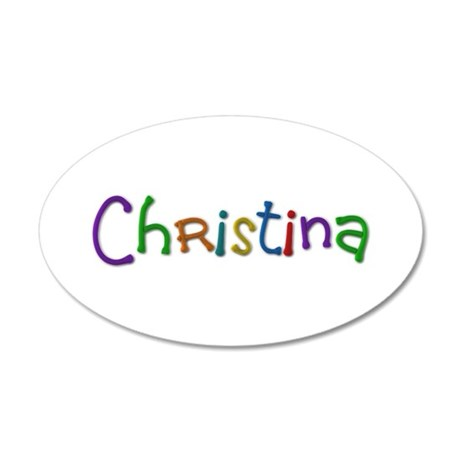 Christina Play Clay 35x21 Oval Wall Decal
