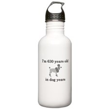 90 birthday dog years poodle Water Bottle