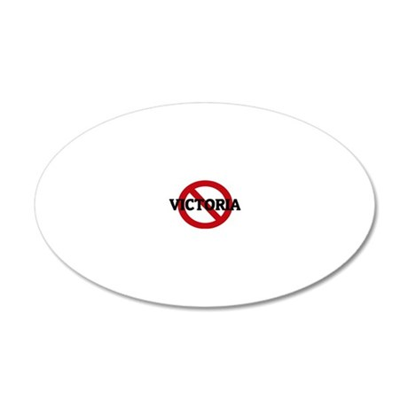 VICTORIA 20x12 Oval Wall Decal