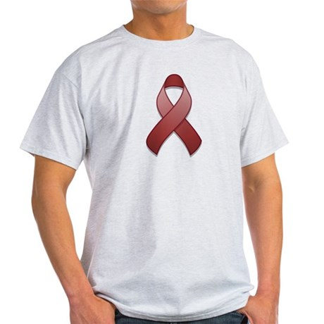 Burgundy Awareness Ribbon Light T-Shirt