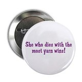 Funny Yarn Quote Button