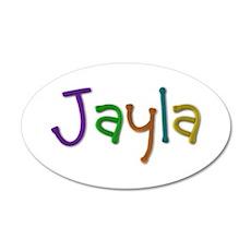 Jayla Play Clay 20x12 Oval Wall Decal