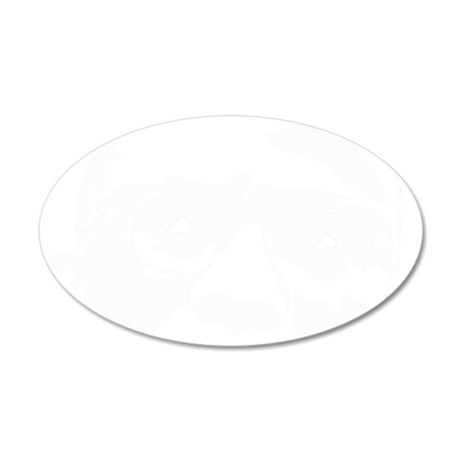 malcomfacetrans 35x21 Oval Wall Decal