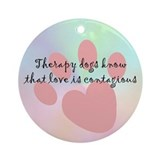 Love is Contagious Ornament (Round)