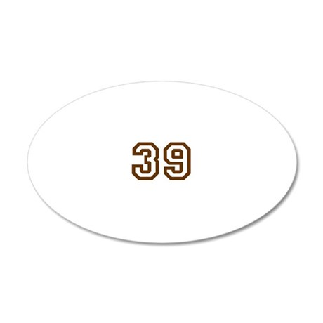 39 20x12 Oval Wall Decal