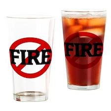 FIRE Drinking Glass