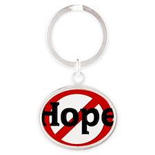 Hope Oval Keychain