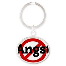 Angst Oval Keychain