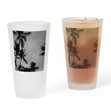 Palm Trees Sillouette Drinking Glass