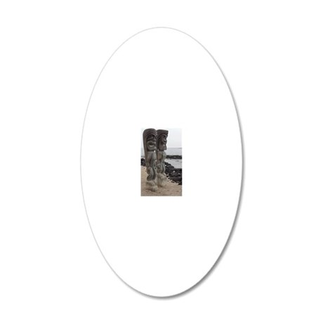 Place of Refuge Tikis 20x12 Oval Wall Decal