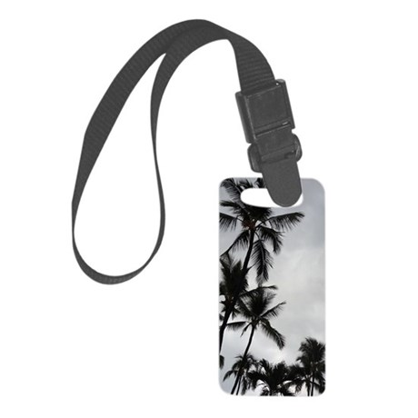 Palm Trees Silhouette Small Luggage Tag