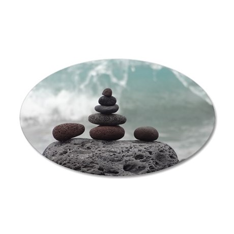 Ocean Serenity 35x21 Oval Wall Decal