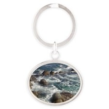 California Ocean 01 Oval Keychain