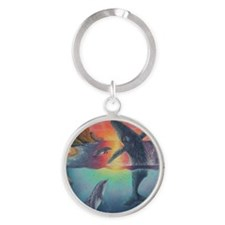 Hawaii Round Keychain