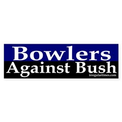 Bowlers Against Bush Bumper Sticker