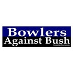 Bowlers Against Bush Bumper Sticker