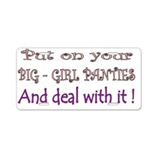 big girl Aluminum License Plate